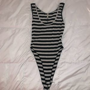 LF striped body suit